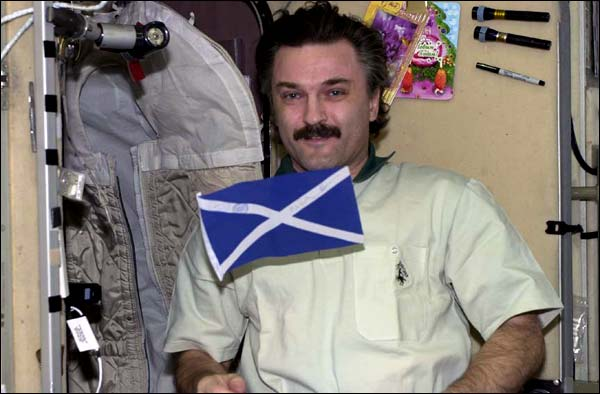 Scottish Flag in space